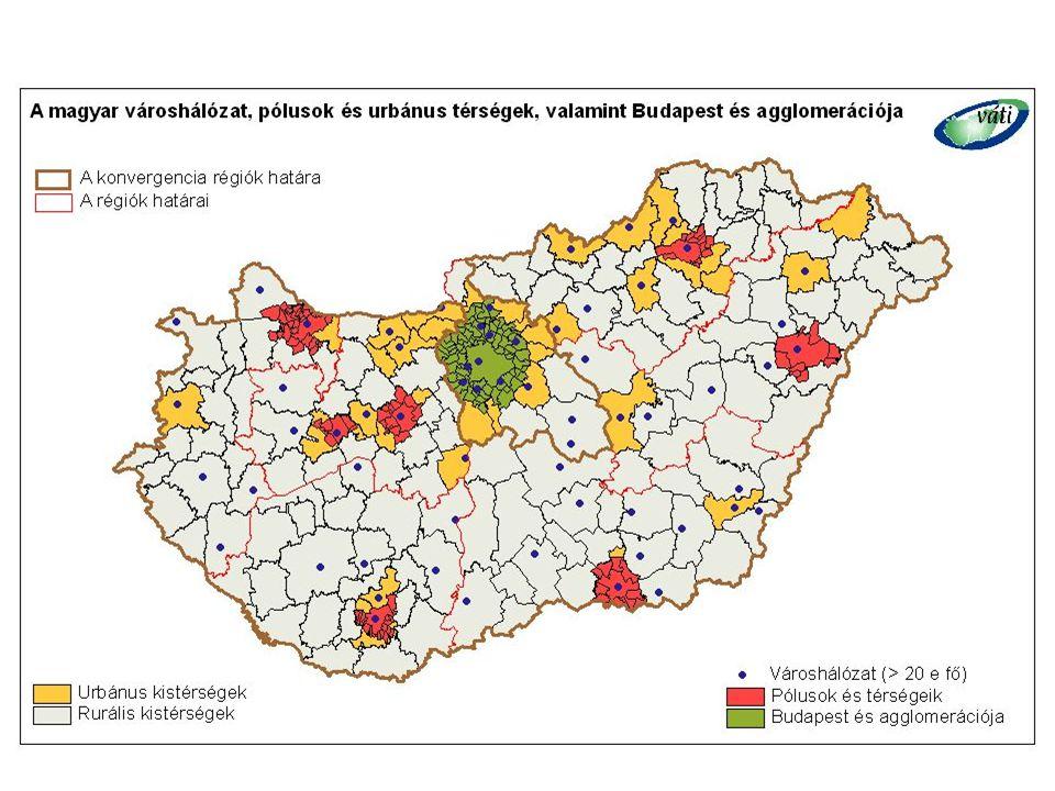 18 Városfejlesztés a ROP-okban (IV)   Közép-dunántúli régió  integrált városfejlesztés   A települési funkciók bővítése, korszerűsítése,  a települési környezet, épített környezet fejlesztése, örökségvédelem (történelmi városok), lakás- és intézményfejlesztés  Székesfehérvár-Veszprém pólushálózat  versenyképességének javítása érdekében elengedhetetlen a helyi KKV-kra alapozott gazdaság innováció-orientált fejlesztése.