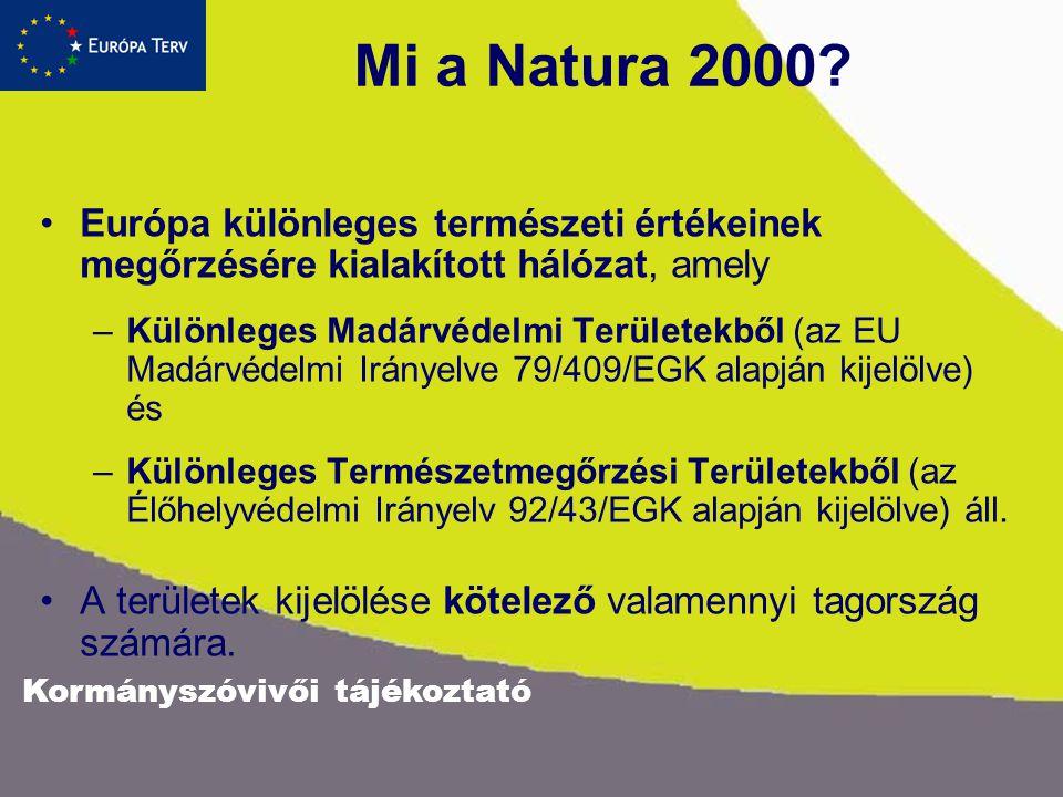 Kormányszóvivői tájékoztató Mi a Natura 2000.