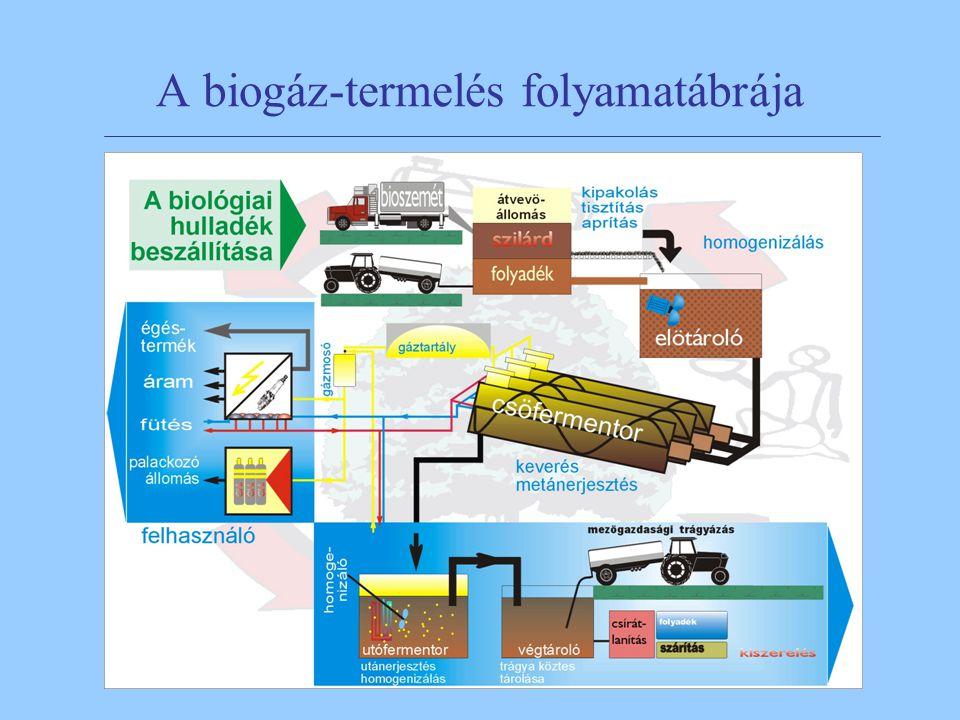 6 A biogáz-termelés folyamatábrája