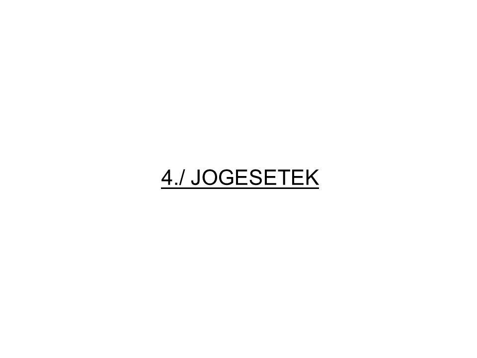 4./ JOGESETEK