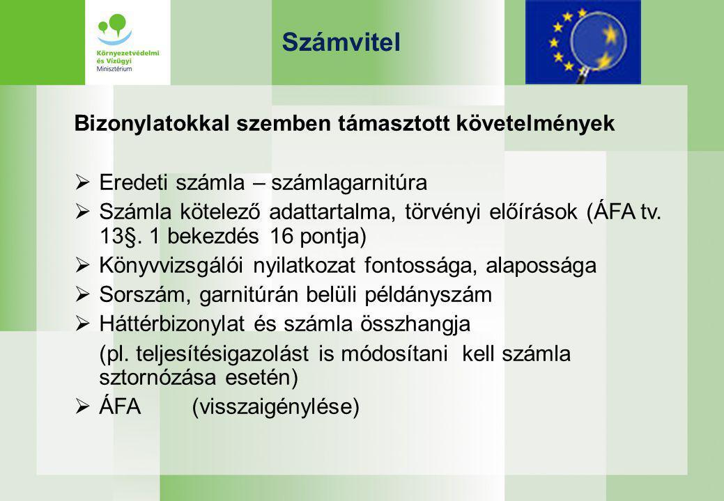 Számvitel Nyilvántartás Elkülönített nyilvántartás a főkönyvi rendszeren belül (pl.