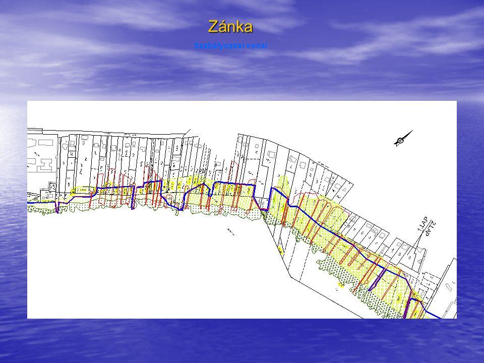 Zánka Szabályozási vonal Balaton