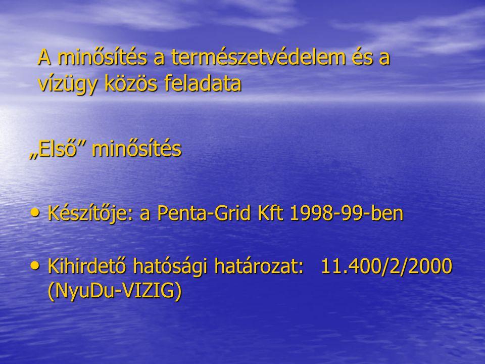 Második minősítés I.ütem Kiírás: 2003. július 21.