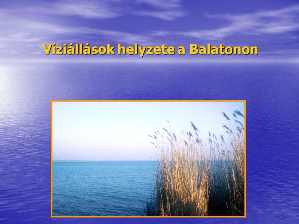 Víziállások helyzete a Balatonon