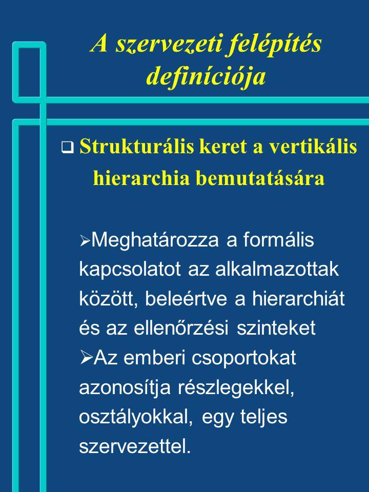 Jellemzők: 1.Egydimenziós (funkció v. tárgy v. régió).