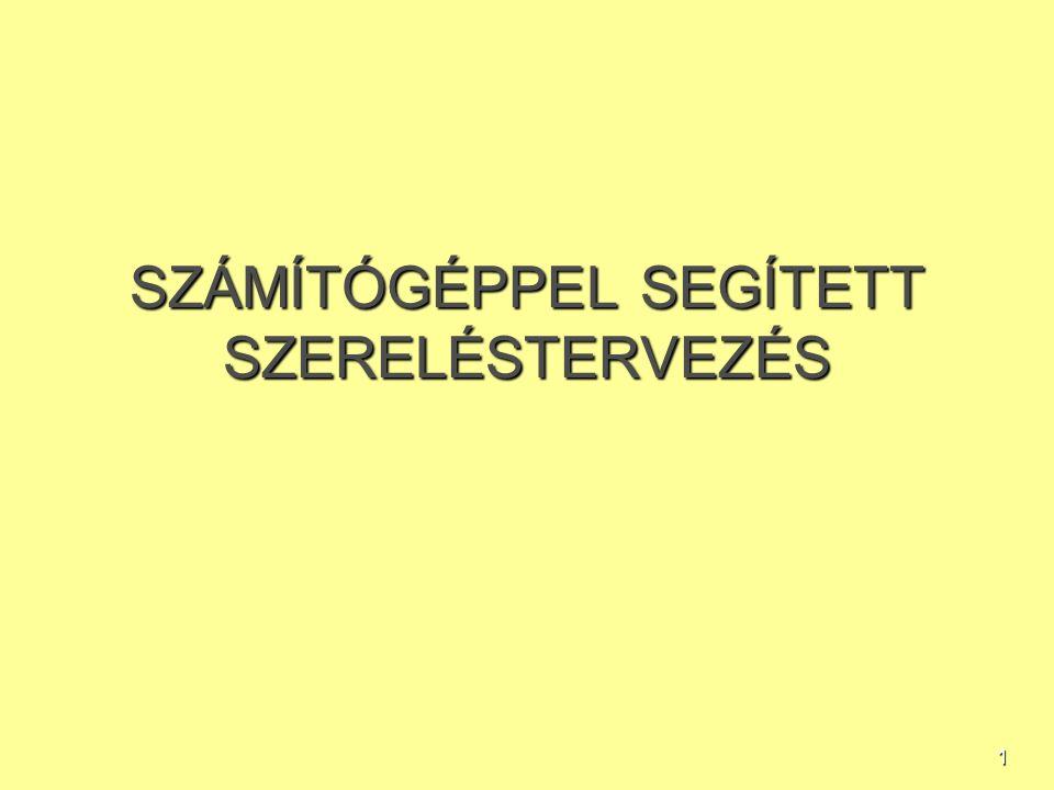 1 SZÁMÍTÓGÉPPEL SEGÍTETT SZERELÉSTERVEZÉS