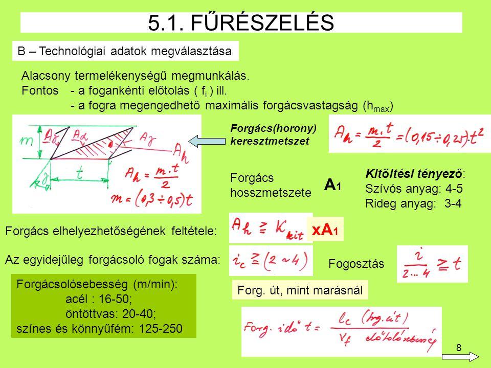 29 Marók: határozott élgeometriájú, többélű szerszámok, melyek alakja kialakítása és anyaga a mindenkori követelményeknek megfelelően más és más 5.4.