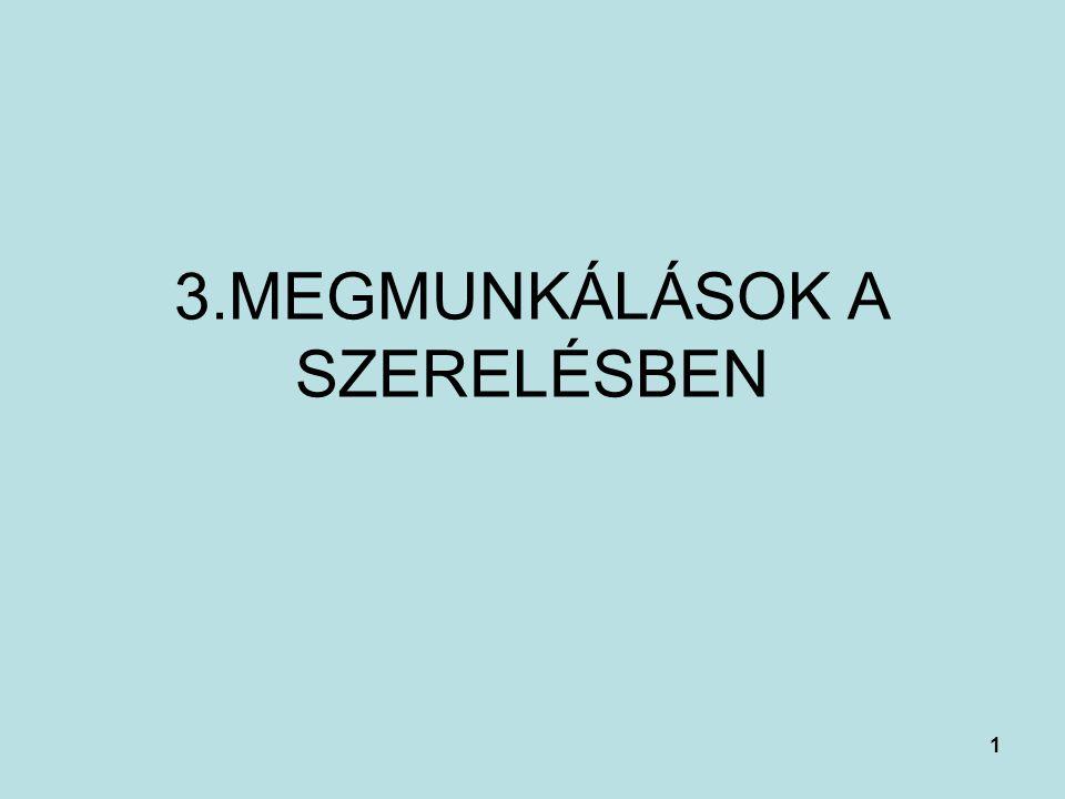 1 3.MEGMUNKÁLÁSOK A SZERELÉSBEN