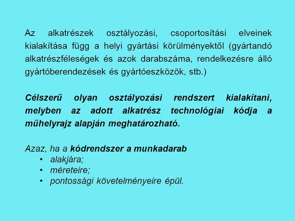 Példa a technológiai kód felépítésére: [1] A mdb.