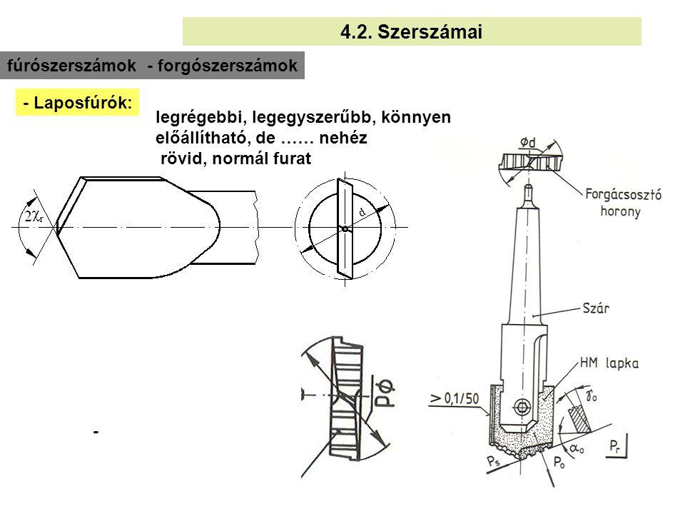 7 határozott élű, 2, 3, 4 vagy többélű bővítés, lépcsős vagy furat készítés + külső homlok 3.2.