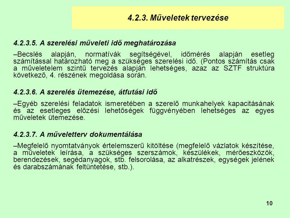 10 4.2.3.Műveletek tervezése 4.2.3.5.