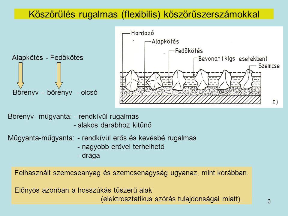 14 VIBRÁCIÓS CSISZOLÁS Számos változat rezgésgerjesztővel ellátott tartály rezgőmozgás hatására a töltet lassú körmozgást is végez igen intenzív csiszolóhatás