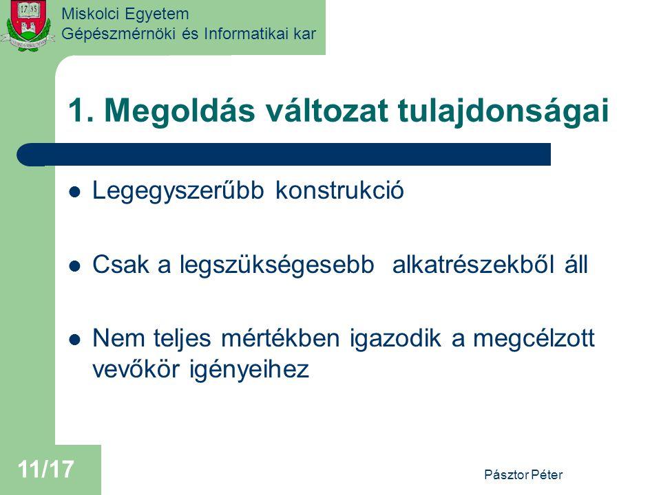 Miskolci Egyetem Gépészmérnöki és Informatikai kar 1.