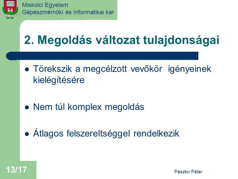 Miskolci Egyetem Gépészmérnöki és Informatikai kar 2.