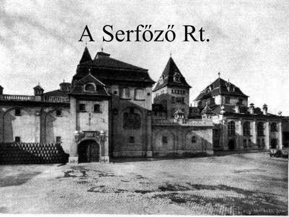 A vállalat 1742-ben Serfőző Sámuel alapította 20 sörfőzde, 7000 kocsma, 40 elosztóraktár  A bor, tömény szesz és üdítőital iparágban jelentős szerep A Nyugati divízió 3 területből áll: Alfa, Béta, Gamma