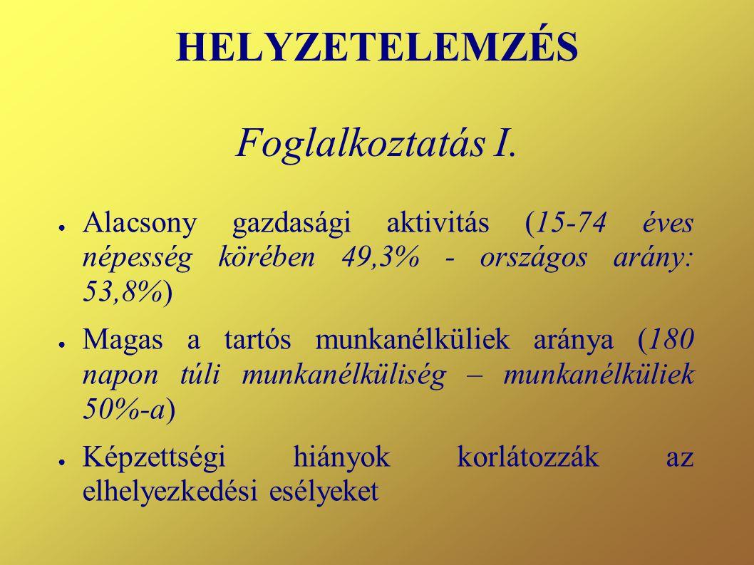 HELYZETELEMZÉS Foglalkoztatás II.