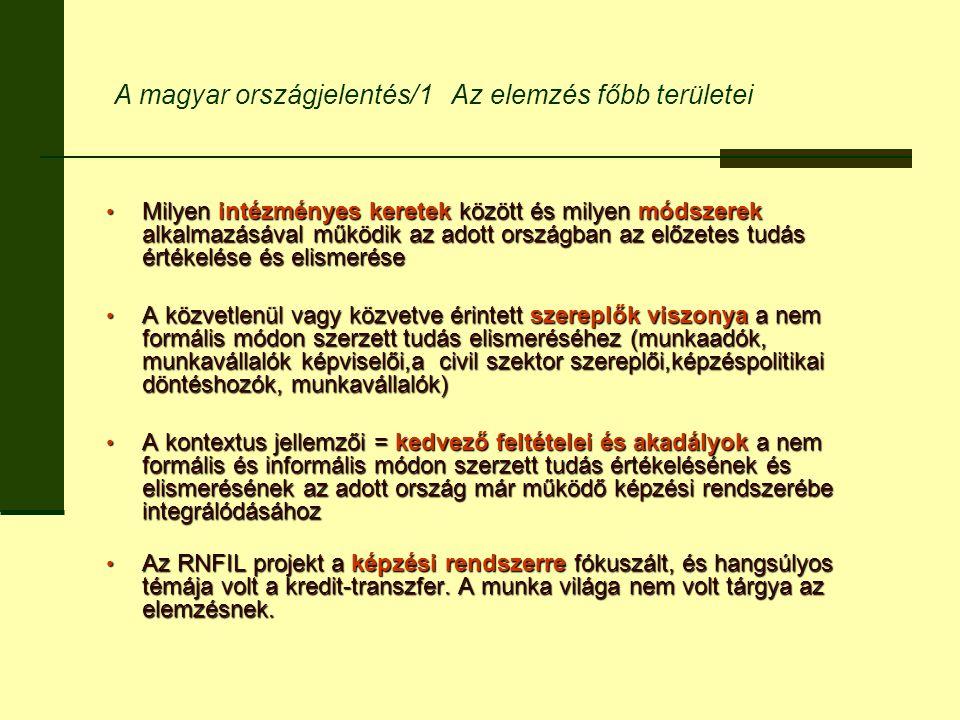 A magyar országjelentés/1 Az elemzés főbb területei Milyen intézményes keretek között és milyen módszerek alkalmazásával működik az adott országban az