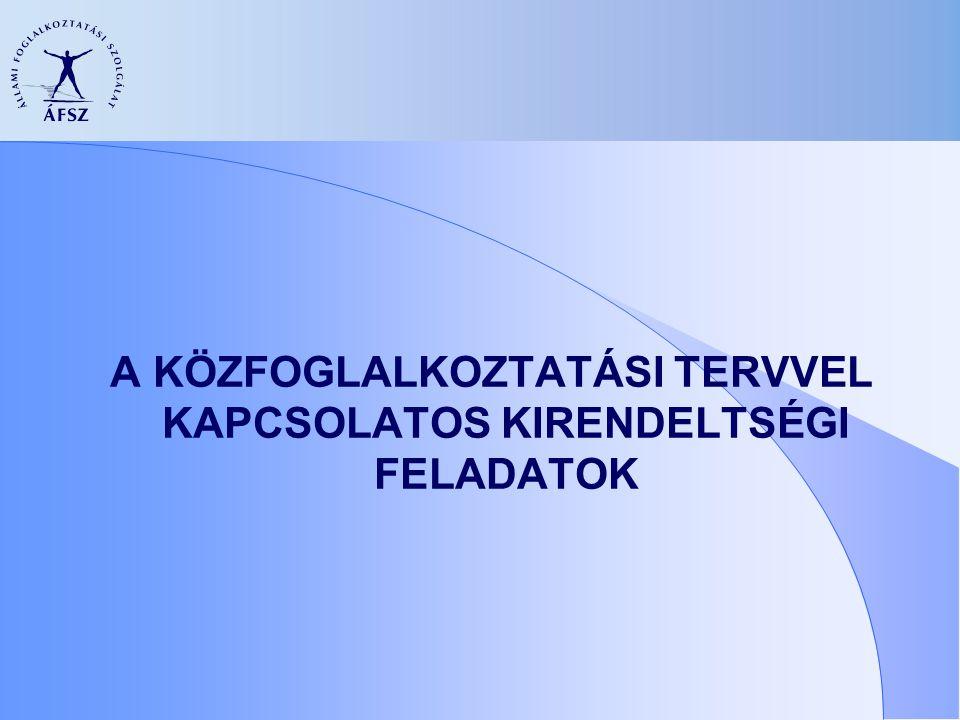 A közfoglalkoztatási terv fogalma Egyéves időtartamra szóló terv.