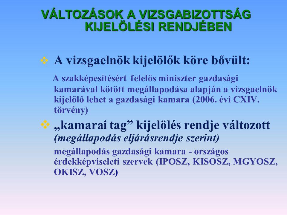 AZ ÚJ RENDSZER BEVEZETÉSE n 2/2006.(VIII.8.) SZMM rendelet n 2006.