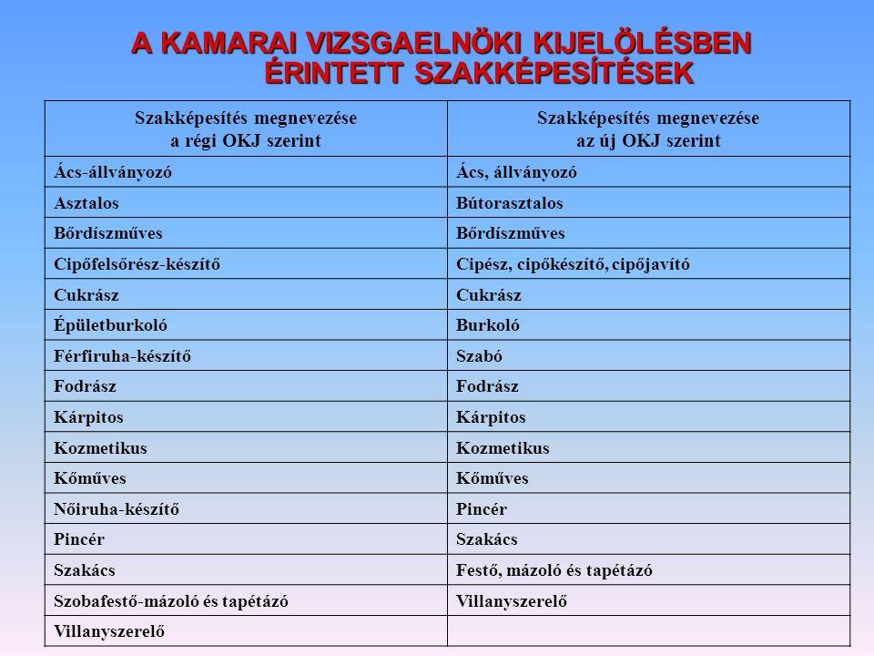 VÁLTOZÁS A KÉPZÉSI DOKUMENTUMOKBAN  1/2006.