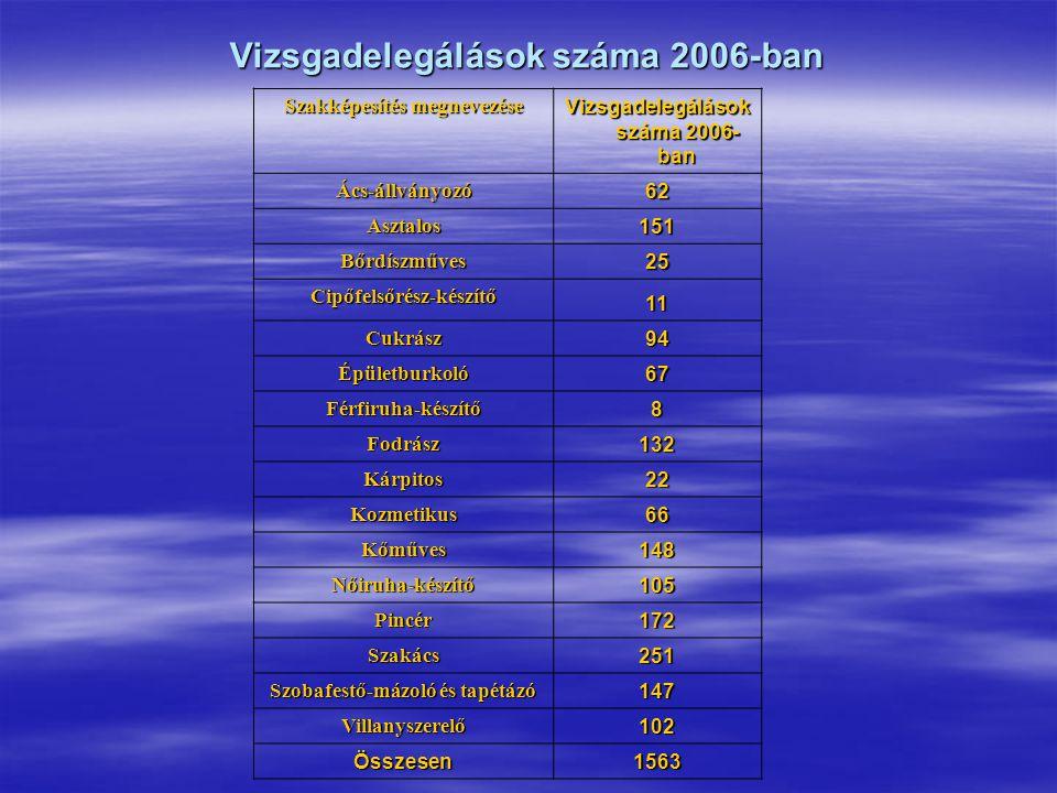 Szakmai záróvizsga elnöki delegálás  2007.