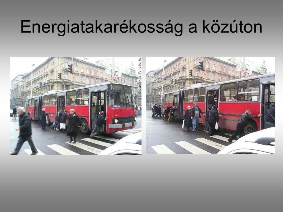 Energiatakarékosság a közúton