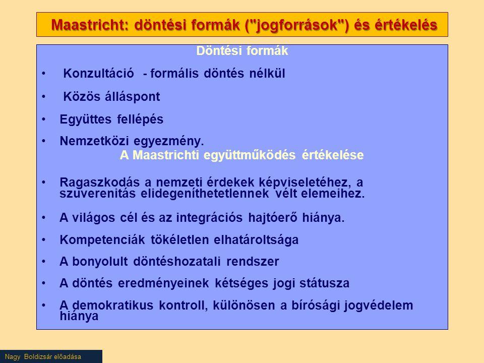 Nagy Boldizsár előadása Maastricht: döntési formák (