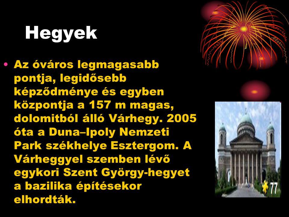 Hegyek Az óváros legmagasabb pontja, legidősebb képződménye és egyben központja a 157 m magas, dolomitból álló Várhegy. 2005 óta a Duna–Ipoly Nemzeti