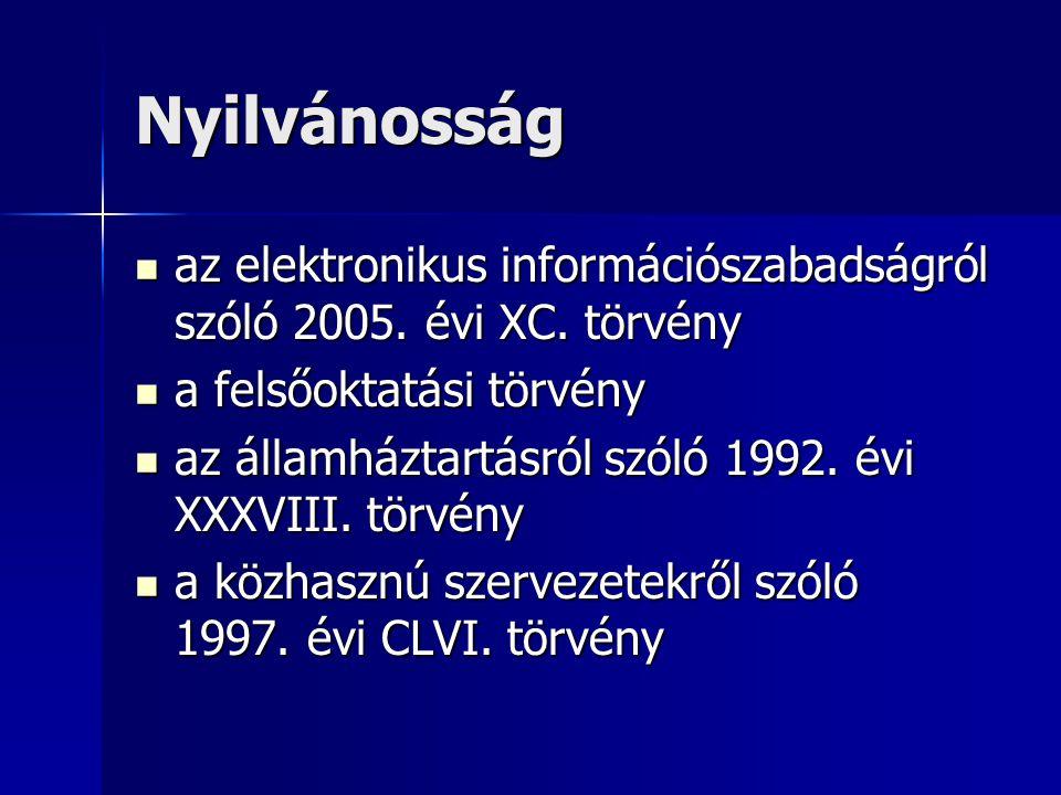 Nyilvánosság az elektronikus információszabadságról szóló 2005.
