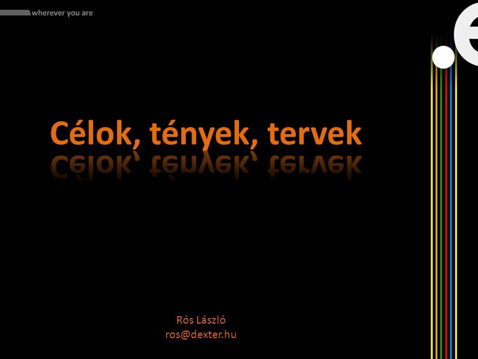 Mit kell tennünk: - Rós László ros@dexter.hu