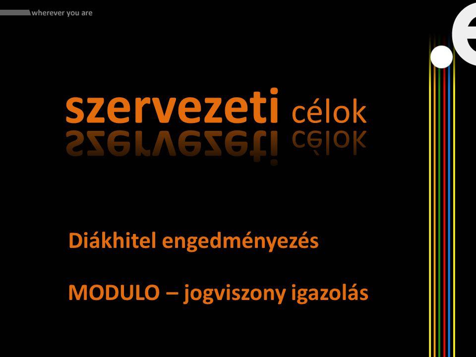 Diákhitel engedményezés MODULO – jogviszony igazolás
