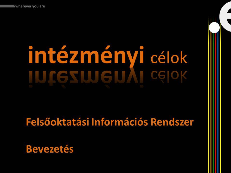 Felsőoktatási Információs Rendszer Bevezetés