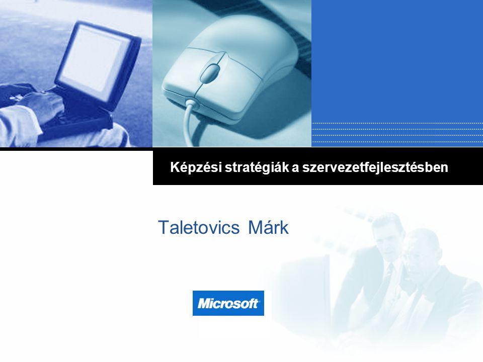 Company LOGO Taletovics Márk Képzési stratégiák a szervezetfejlesztésben