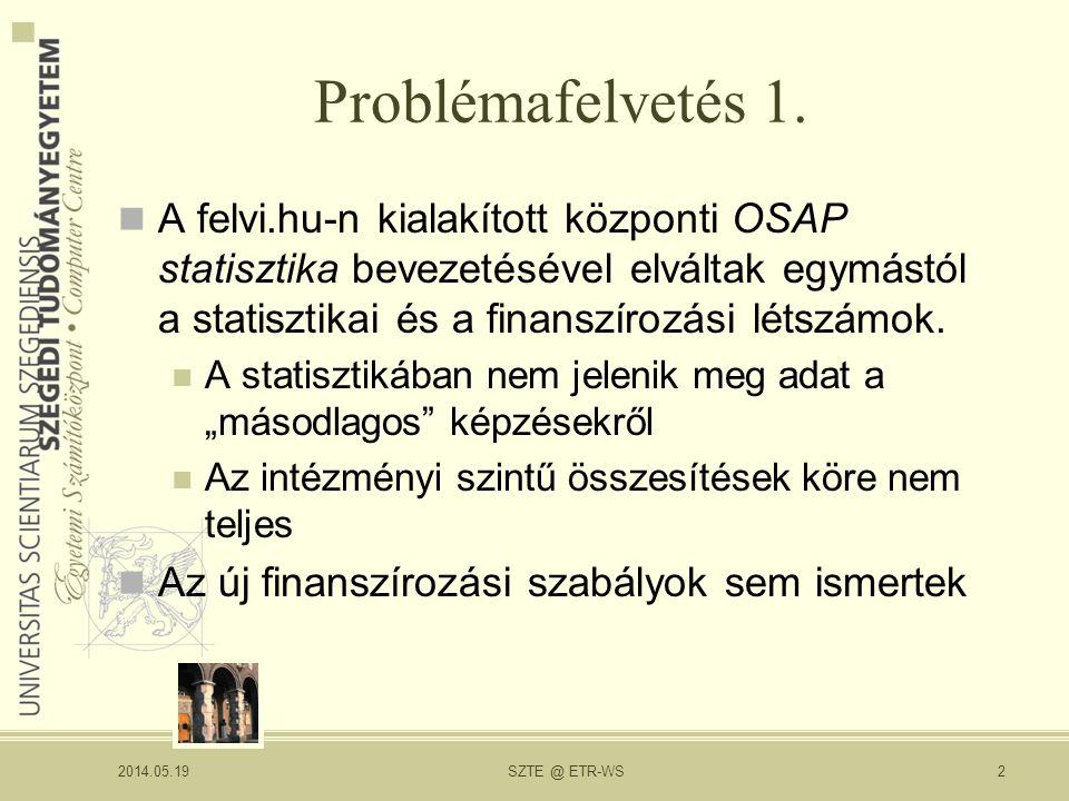 Problémafelvetés 1.