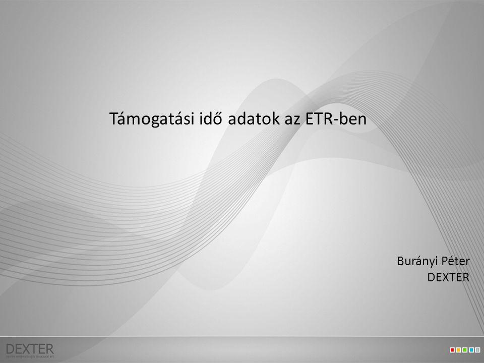 Támogatási idő adatok az ETR-ben Burányi Péter DEXTER