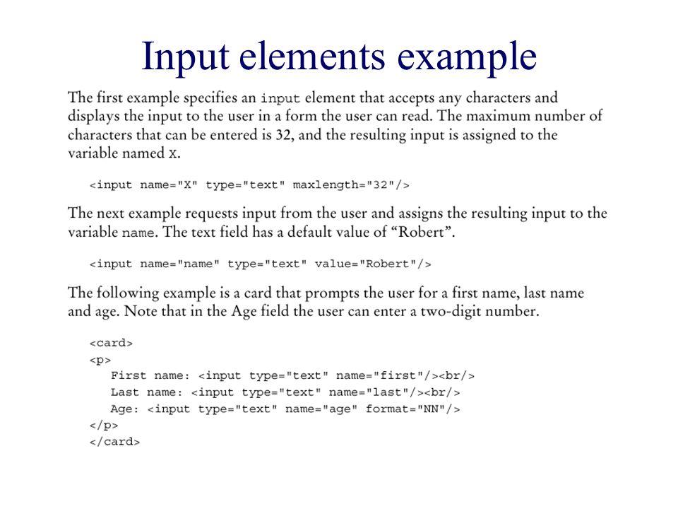 Input elements example