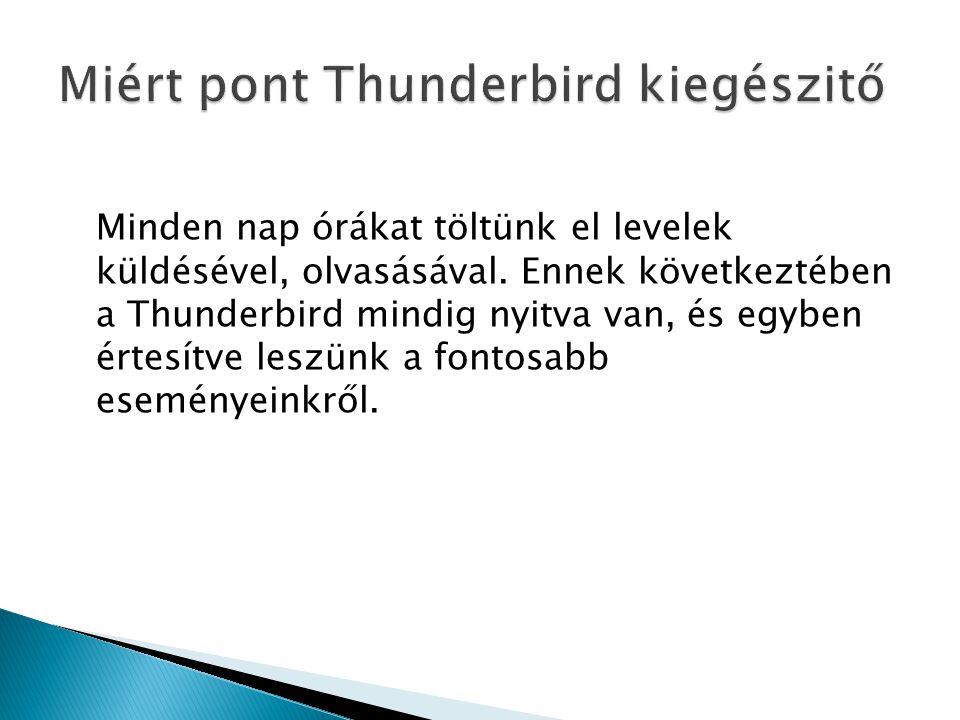 Minden nap órákat töltünk el levelek küldésével, olvasásával. Ennek következtében a Thunderbird mindig nyitva van, és egyben értesítve leszünk a fonto