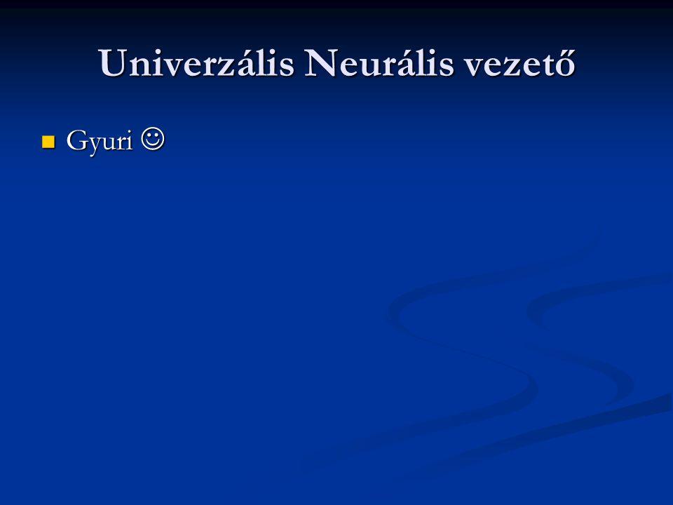 Univerzális Neurális vezető Gyuri Gyuri
