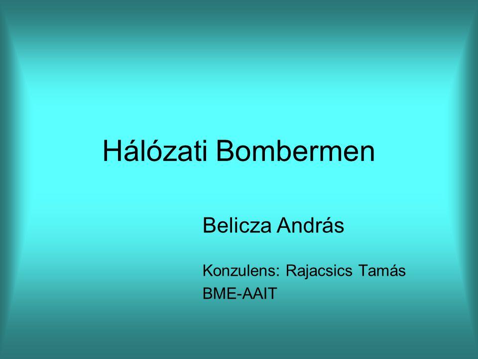 Hálózati Bombermen Belicza András Konzulens: Rajacsics Tamás BME-AAIT