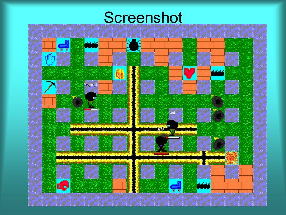 """Folytatási lehetőségek Játék befejezése: –Pályaszerkesztő –Replay Játékszervezés: –Központi """"battle.net szerver –Klienshez kihelyezett """"Bombermen agent"""