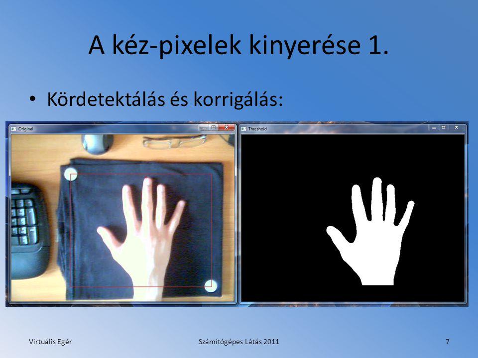 A kéz-pixelek kinyerése 2. Virtuális EgérSzámítógépes Látás 20118