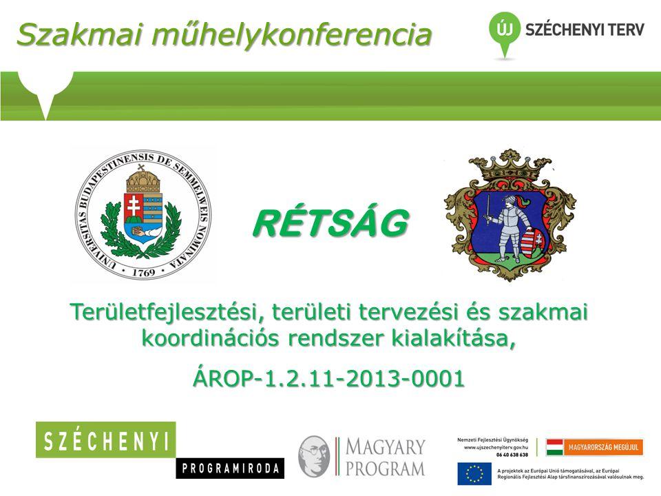 Szakmai műhelykonferencia Területfejlesztési, területi tervezési és szakmai koordinációs rendszer kialakítása, ÁROP-1.2.11-2013-0001 RÉTSÁG