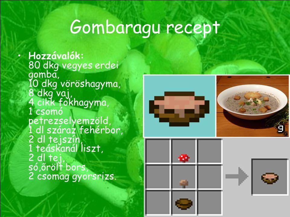 Gombaragu recept Hozzávalók: 80 dkg vegyes erdei gomba, 10 dkg vöröshagyma, 8 dkg vaj, 4 cikk fokhagyma, 1 csomó petrezselyemzöld, 1 dl száraz fehérbo