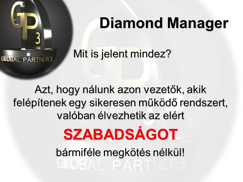 Diamond Manager Mit is jelent mindez.