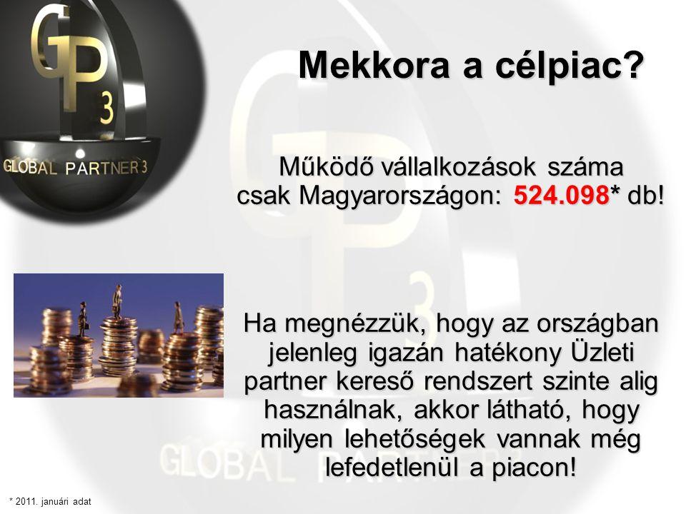Működő vállalkozások száma csak Magyarországon: 524.098* db! Ha megnézzük, hogy az országban jelenleg igazán hatékony Üzleti partner kereső rendszert