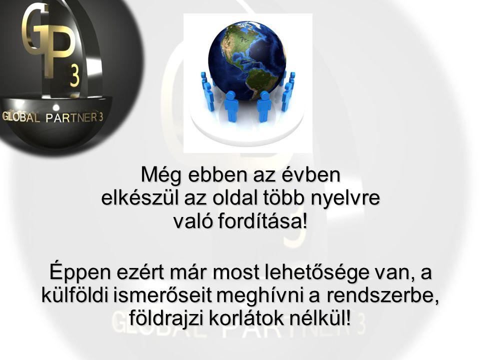 Még ebben az évben elkészül az oldal több nyelvre való fordítása! Éppen ezért már most lehetősége van, a külföldi ismerőseit meghívni a rendszerbe, fö