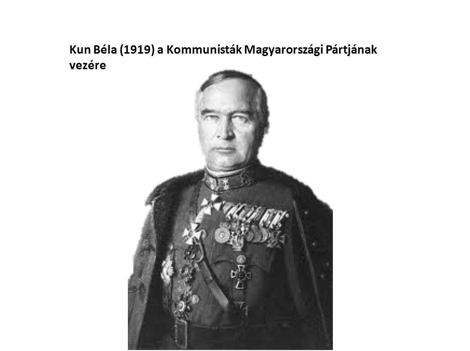 Kun Béla (1919) a Kommunisták Magyarországi Pártjának vezére