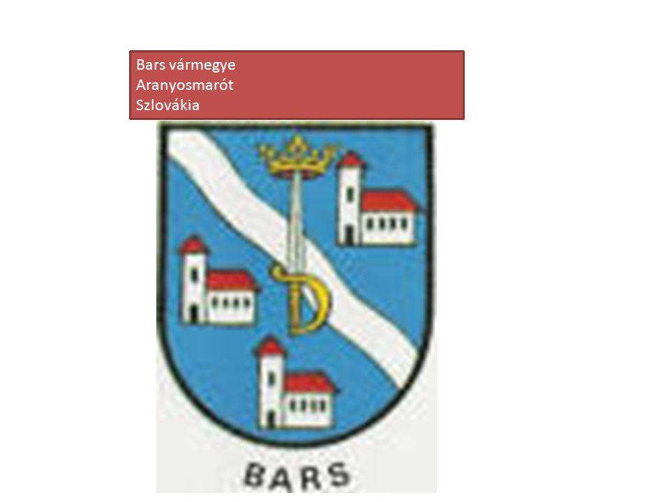 Bars vármegye Aranyosmarót Szlovákia
