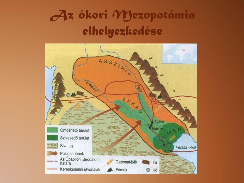 Az ókori Mezopotámia elhelyezkedése