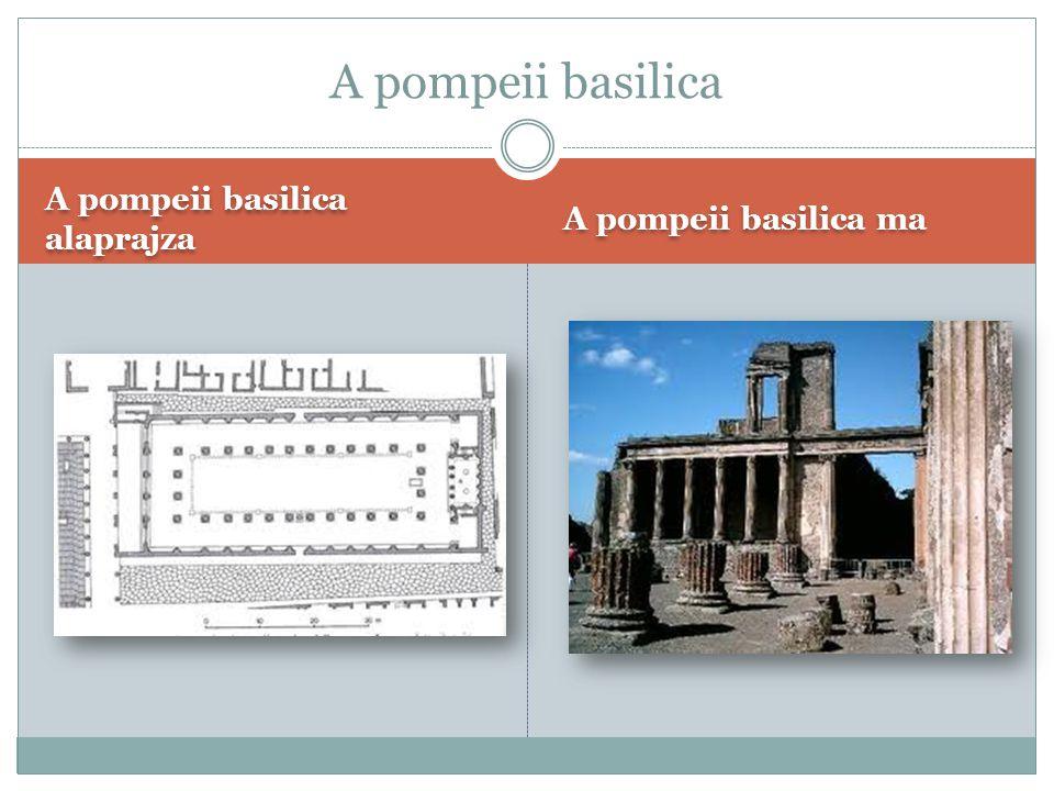 A Capitolium makettje A Capitolium alaprajza A Capitolium